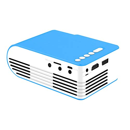 HongLianRiven Kleine draagbare projector ondersteunt 1080P mobiele telefoon hetzelfde scherm mobiele thuisbioscoop kabel - keuze uit twee kleuren -13,1 x 9,3 x 5 cm 11-9