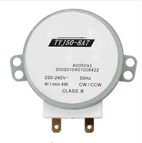 QINGRUI Ersatzteile AC 220V-240V 4W 50Hz CW/CCW Mikrowellen Drehscheibe drehen Tabelle Synchronous Motor TYJ50-8A7 D Welle 4 RPM stark und robust