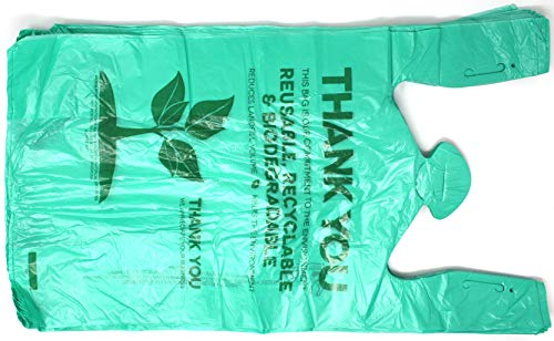 Biodegradable Plastic T Shirt Bags Thank you - 500/Pack
