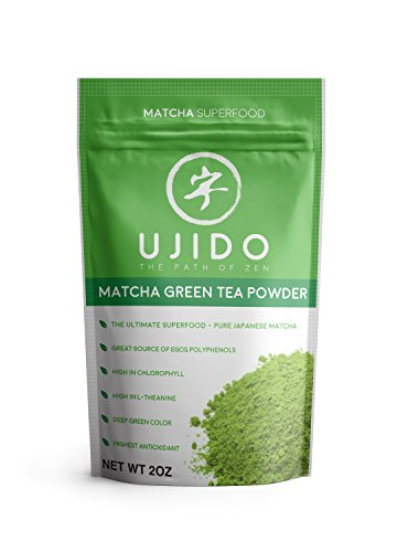 Ujido Japanese Matcha Green Tea Powder - Ceremonial Blend - Packaged in Japan (2 oz)