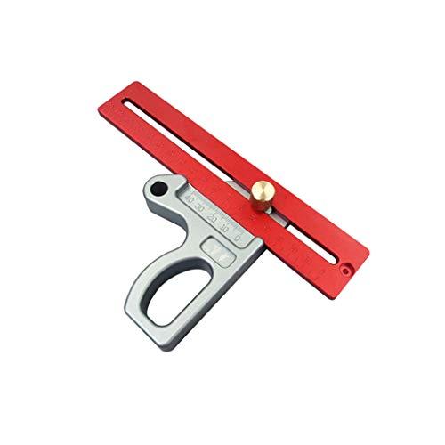 Zhoujinf-Precision Règle de mesure de précision en aluminium pour travail du bois