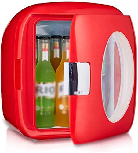 MEETGG Mini refrigerador Antiguo Moda, Portátil Hot y Frío Dual Energía de Alta Capacidad, para Carros de Estación, Dormitorio