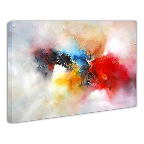 Pintura Al óLeo Pintada A Mano Cuadros Abstractos Modernos Sobre Lienzo Arte Sala De Estar Dormitorio DecoracióN Para El Hogar,Innerframe,120×80cm