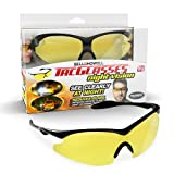 Night Vision Tac Glasses by Bell and Howell,Polarized, Sports Goggles, Anti-Glare/ UV-Ray Protection, Military-Inspired Eye Wear for Low Light Conditions As Seen On TV (Unisex)