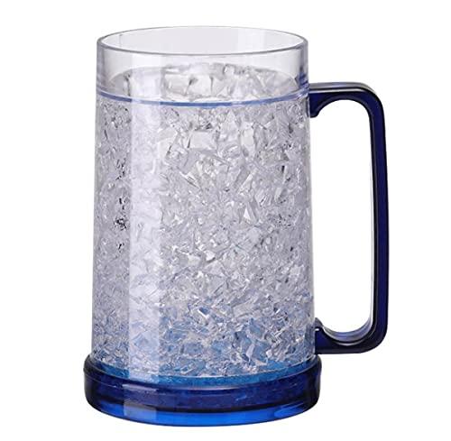 El Diseño Único De La Jarra Cerveza Combina Ranuras Verticales para Evitar Que Vaso Se Resbale En Sus Manos Conviértete Al Aire Libre Más Popular,Azul