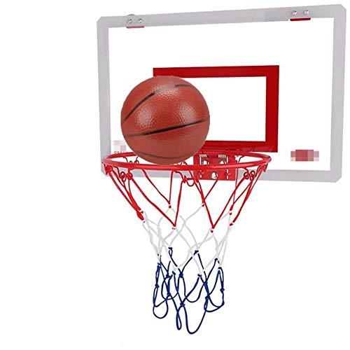 MHCYKJ Mini Canasta Baloncesto Pared Habitacion De Sistema Interior Aro Oficina Junta Niños Deportes Ocio con Balón Y Bomba