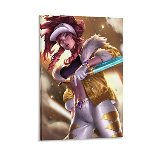 DRAGON VINES KDA Akali Kda Prestige Skin Hero League Game Personajes Dormitorio Lienzo Poster Celebrity Art 40 x 60 cm