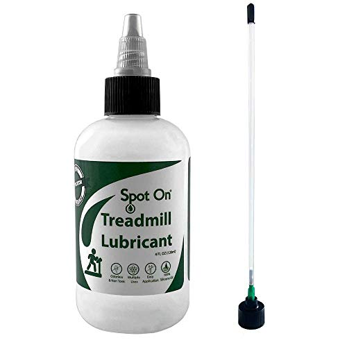 100% Silicone Treadmill Belt Lubricant - Made in The USA - with Both a Precision Twist Cap and an Application Tube for Easy, Full Belt Width Lubrication