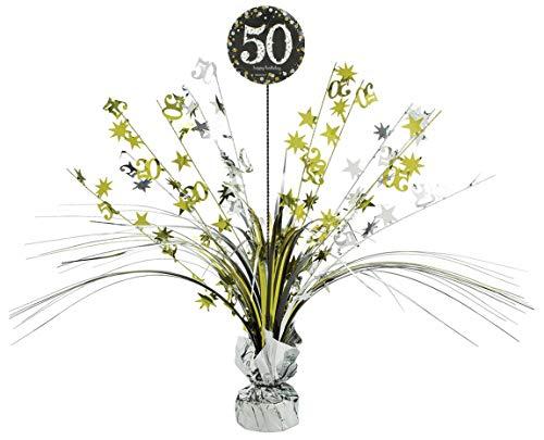 Amscan 110297 Tischdekoration 50 Sparkling Celebration, Silber & Gold