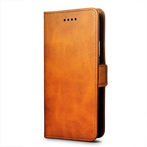 cookaR ZTE Axon 10 Pro 5G Handy Hülle Tasche Flip Hülle Kredit Karten Fach Geldklammer Leder Handy Schutzhülle Unsichtbar Magnet Verschluss Standfunktion,Rose Gold