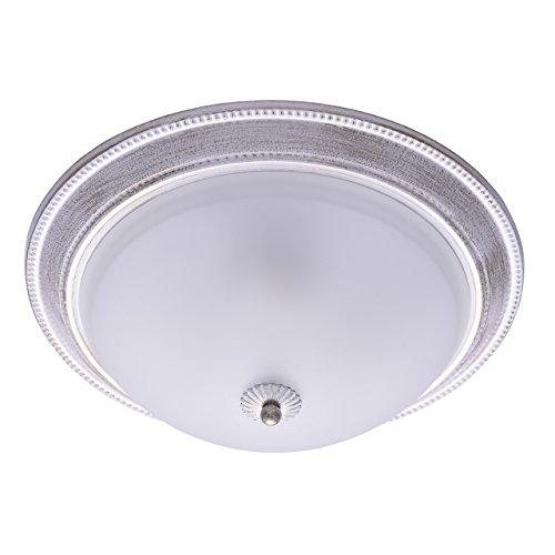 MW-Light 450013403 Shabby Chic Deckenleuchte in Weiß Rund 3 Flammig Metall Glas