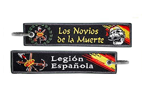 Llavero Legión Española Los Novios de la Muerte Ejercito de Tierra Fuerzas Armadas España Negro Bordado
