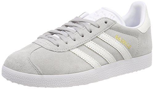 adidas Gazelle W, Scarpe da Ginnastica Donna, Grigio (Grey Two F17/Ftwr White/Ftwr White), 41 1/3 EU