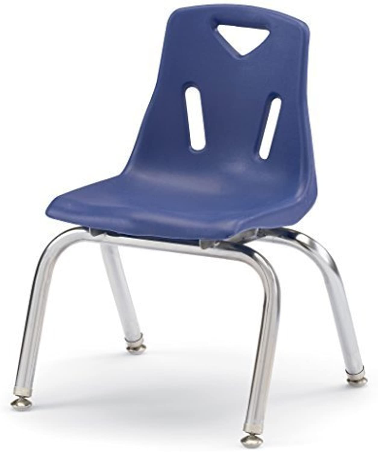 Berries Stacking Chair with Chrome-Plated Legs - 14 Ht - bleu by Berries
