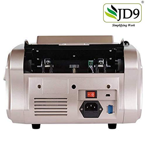 JD9 8888-E Mix Note Value Counting Business-Grade Machine Fully Automatic with Fake Note Detection (Champagne+Black)