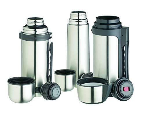 KitchenCraft MasterClass Vacuum Flask, Stainless Steel, Silver, 300 ml
