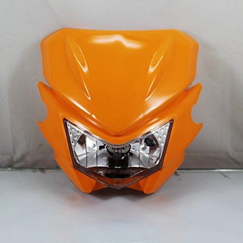 Phare universel orange pour moto ATV Dirt Bike Dual Sport Bike