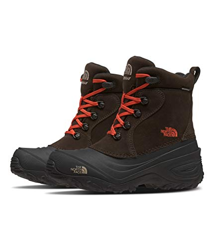 The North Face Youth Chilkat Lace II, Coffee Brown/Flare, 12
