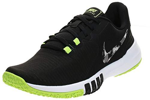 Nike Men's Flex Control TR4 Cross Trainer, Black/Smoke Grey-Ghost Green-Photon Dust, 10.5 Regular US