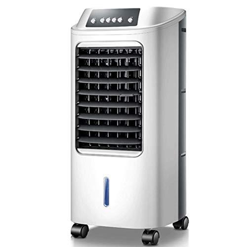 RJLI Aires acondicionados móviles Evaporativo Portátil para Viviendas Y Oficinas,Enfriador De Aire con Mando A Distancia,Ventilador Humidificador,3 Velocidades,6 litros,7 Horas De Tiempo