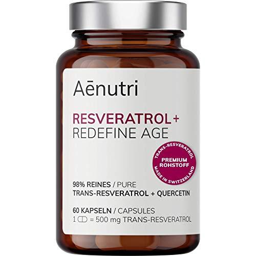NEU: RESVERATROL Plus hochdosiert   500mg Premium Trans-Resveratrol aus Schweiz je Kapsel   Optimierte Formel mit Quercetin   Laborgeprüfte Qualität aus DE   60 Kapseln