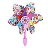 Abaodam Molinillo de viento para bicicleta infantil, diseño de flor, para decoración de niños