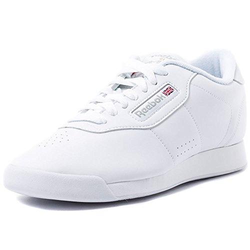 Reebok womens Princess Fashion Sneaker, White, 6.5 US