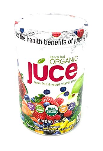 Terra Kai Organics Juce Super Fruit and Veggie Blend Drink, 12.2-Ounce Garden Berry