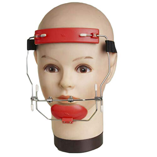 Sino Dental Orthodontic Adjustable Headgear Face Mask Facebow High-Pull Headgear (Red)