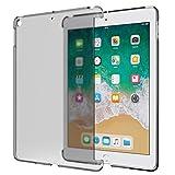MoKo Smart Cover Compatible con Apple iPad 9.7'(iPad 5, iPad 6), Unità Sola di Protettore Semi-Trasparente Policarbonato Duro, (Compatibile con iPad Smart Cover Ufficiale) - Trasparente
