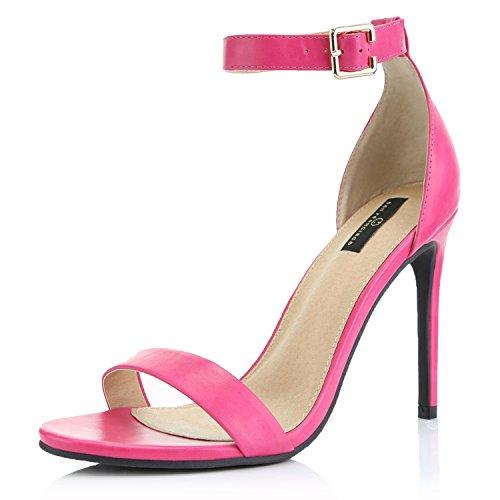 DailyShoes Strap Stiletto Heels High Sandal Stilettos Buckle...