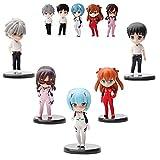 Conjunto de figuras de Evangelion de 5 piezas, figura de Ayanami Rei/Asuka Langley/Ikari Shinji/Nagisa Kaworu/Mari Makinami para fans (1 juego)