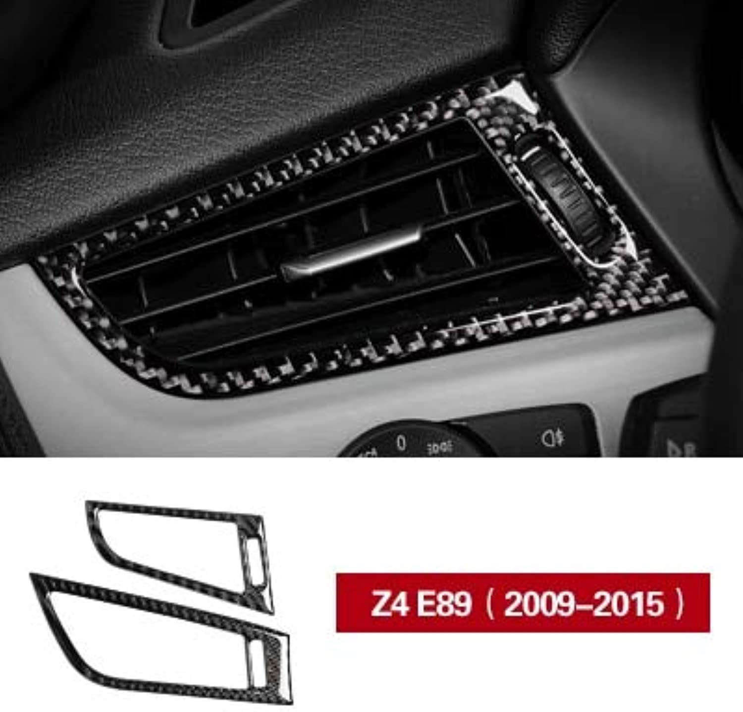 Car Side Air Condition Vent Outlet Frame Carbon Fiber car Stickers and Decal Styling for BMW Z4 E89 20092015 Accessories  (color Name  Z4 E89 (20092015))