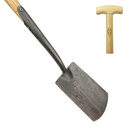 DeWit Garten-Spaten mit praktischem T-Griff 114 cm I Premium Garten-Zubehör für sandigen bis steinigen Boden I Profi Spaten in Bester Qualität I Garden Tools – Made in Holland