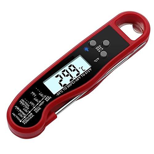 CFCF Digitales Küchenthermometer, Grillthermometer, Temperaturmessgerät Für Fleisch, Flüssigkeiten Oder Babynahrung, Bratenthermometer Für Die Ideale Kerntemperatur, 261X18X35Mm