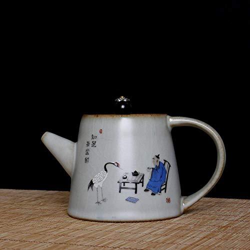 Tetera de porcelana de estilo japonés Olla, tetera, hervidor de cerámica, juego de té Kung Fu