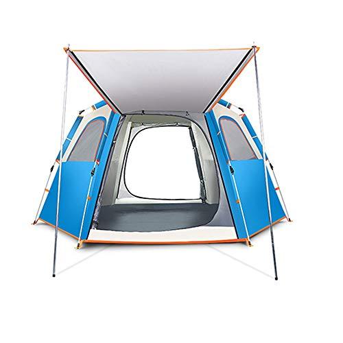 ZSLLO Tente extérieure Automatique 2-3-4 Personnes Camping épaississement tempête de Pluie Unique Pluie Camping désert (Couleur : A, Size : L)