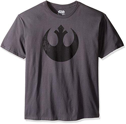 Star Wars mens Rebel Alliance Logo Emblem T-Shirt, Charcoal, Medium
