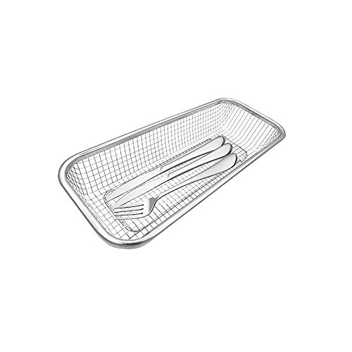 "Stainless Steel Colander Over the Sink Strainer Basket Rectangle Mesh Strainer Wash Vegetables and Fruits,Kitchen Tools (12"" x 5"" x 2.2"") Small"