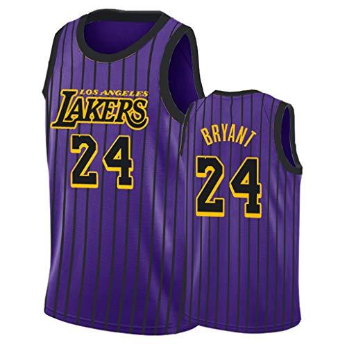 FADA mannen trui, Kobe Bryant # 24 Los Angeles Lakers, borduurwerk Mesh Swingman Jersey, basketbal uniform zomer