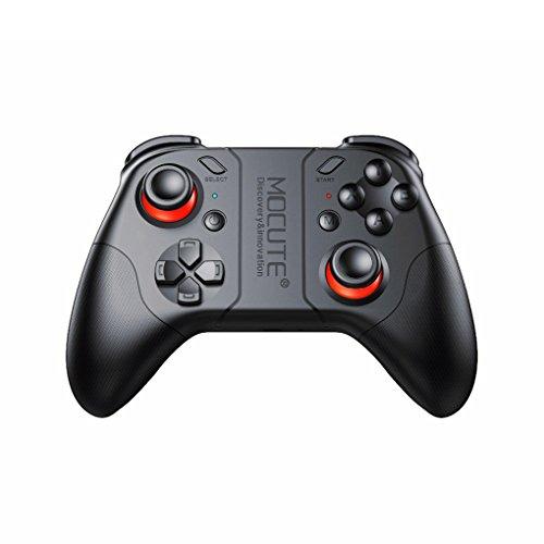 rongweiwang Gamepad Bluetooth para el Mando inalámbrico PUBG Joystick PC Remoto VR cojín del Juego para el iPhone para el iPad para TVBOX