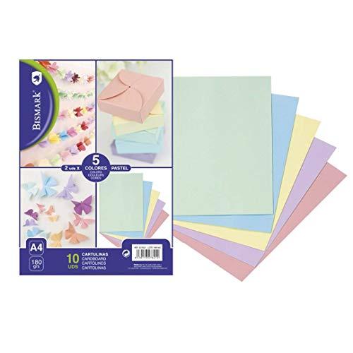 10 cartulinas colores pastel