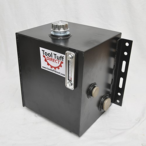 Tool-Tuff 15-Gallon Hydraulic Fluid Reservoir Tank, Side Vertical Mount, w/Temp Gauge, Sight-Gauge & Breather/Strainer Fill Cap