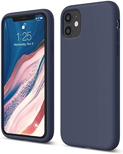 elago Silicona Líquida Funda Compatible con iPhone 11 (6.1'), Silicona Premium, Protección Funda Protectora 3 Tapas Estructura (Jean Indigo)