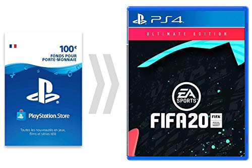 100€ Carte PSN pour FIFA 20 - Ultimate Edtion [PS4 Download Code - Compte français] - Ultimate Edition Edition | Code Jeu PS4 - Compte français