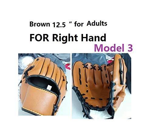 Windlia Baseball Glove Catcher Gloves Softball Right Hand Gloves Sport Training Accessories Left/Right Hand,Right Hand Adults