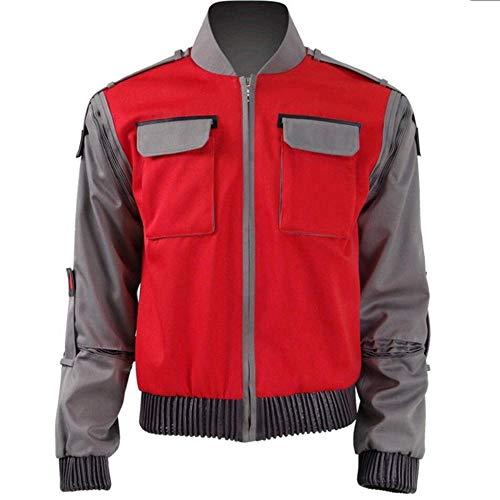 Pelcula de regreso al futuro chaqueta de Cosplay Jr Marlene Seamus Marty McFly ropa de abrigo naranja carnaval de Halloween para hombres