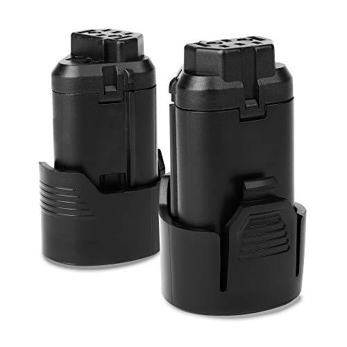 CELLONIC 2X Batería Premium 12V, 2Ah, Li Ion Compatible con AEG BS 12C, BTS12C, BBH 12C, BS 12C2, bateria de Repuesto L1215, AEG L1215R, AEG L1220, AEG3520, AEG L1230, AEG 3526 Pila