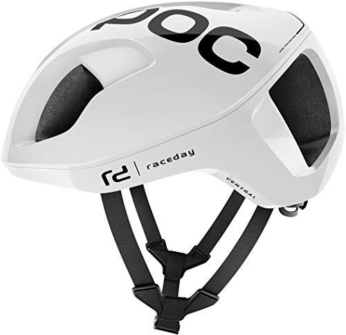 POC Ventral SPIN Casco Ciclismo Unisex Adulto, Blanco Hydrogen White Raceday, M/54-60cm