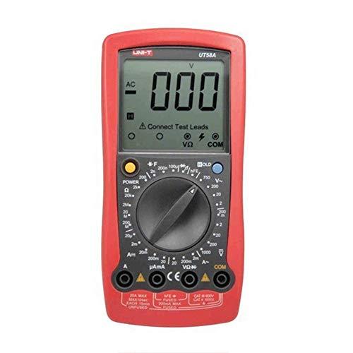 Multímetro digital HYY-YY con zumbador de medición de capacitancia y pantalla grande, ut58A